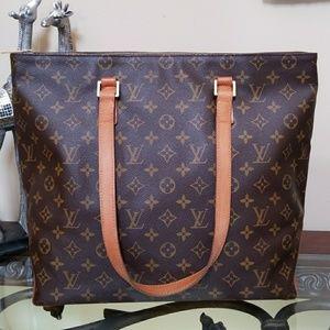 Authentic Louis Vuitton Cabas Mezzo LARGE TOTE